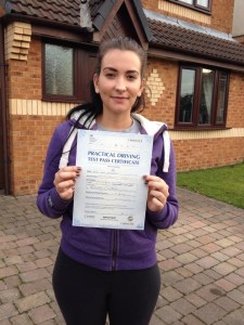 Alix passed her driving test in Bury