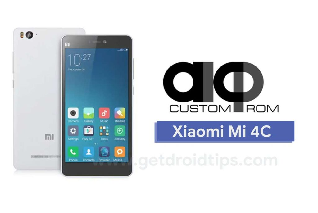 Download and Update AICP 13.1 on Xiaomi Mi 4C (Android 8.1 Oreo)