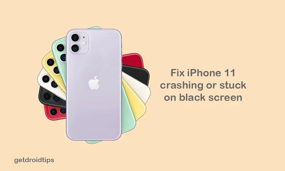 Мой iPhone 11 случайно вылетает и зависает на черном экране, как исправить?