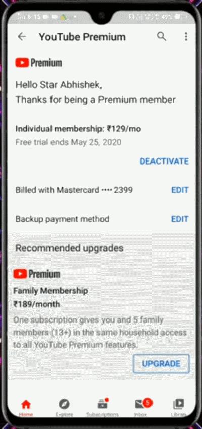 Можем ли мы приостановить или прекратить подписку YouTube Music Premium?