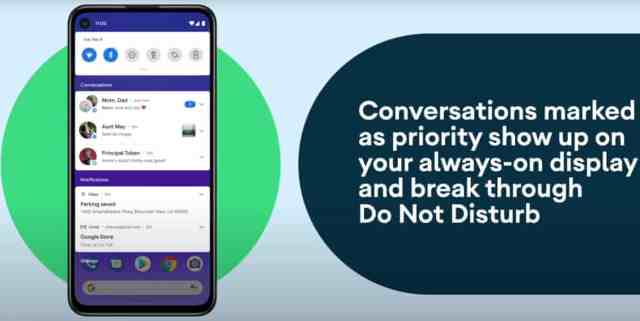 converstation android 11