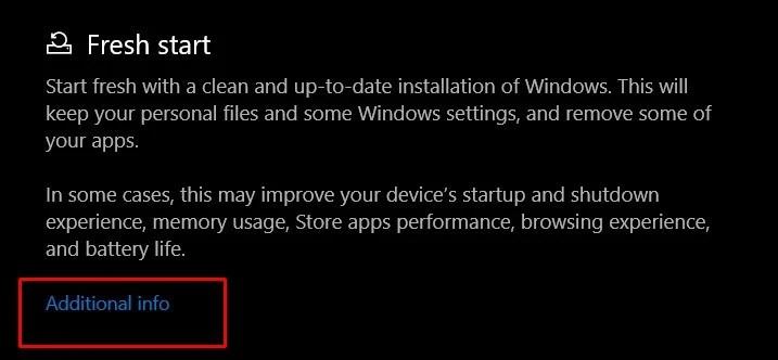дополнительная информация Windows 10