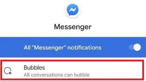 Функция пузырей в чате в Facebook Messenger