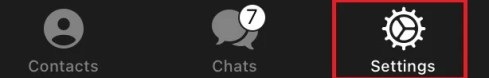 Настройки Telegram в iOS