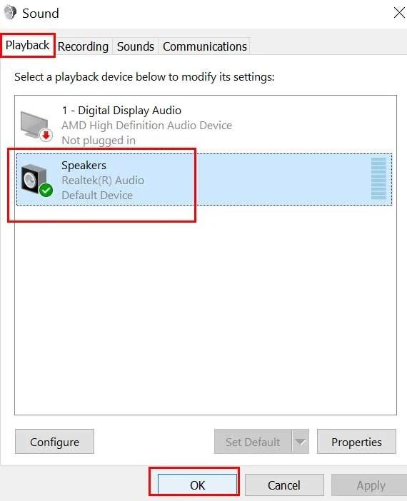 Исправлено: системные звуки Windows 10 не воспроизводятся