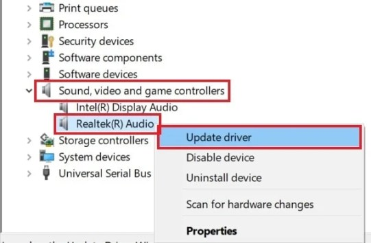 обновите аудиодрайвер, чтобы исправить потоковую передачу Twitch, но без проблем со звуком