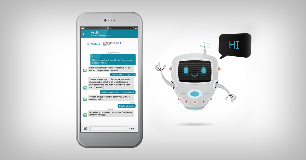 Conversational Emerging Digital Commerce Chatbot Phone Mobile