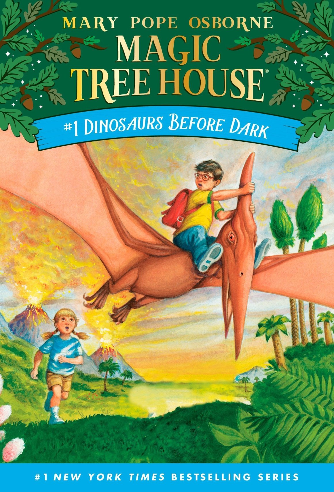 The Magic Treehouse: Dinosaurs Before Dark is one of the best audiobooks for 5-year olds.