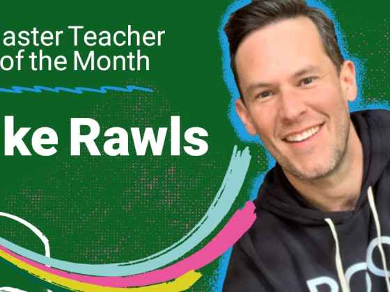 Master Teacher of the Month Mike Rawls