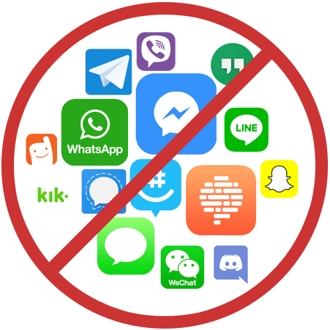 Illegal messaging apps for 1st responders