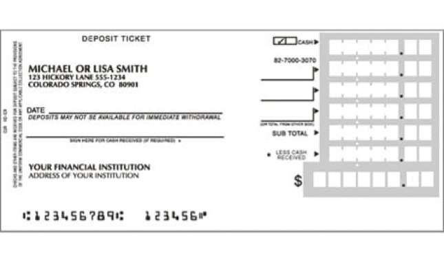 deposit slip examples 10  Deposit Slip Templates - Excel Templates