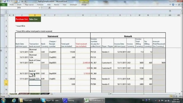 excel bookkeeping template 777