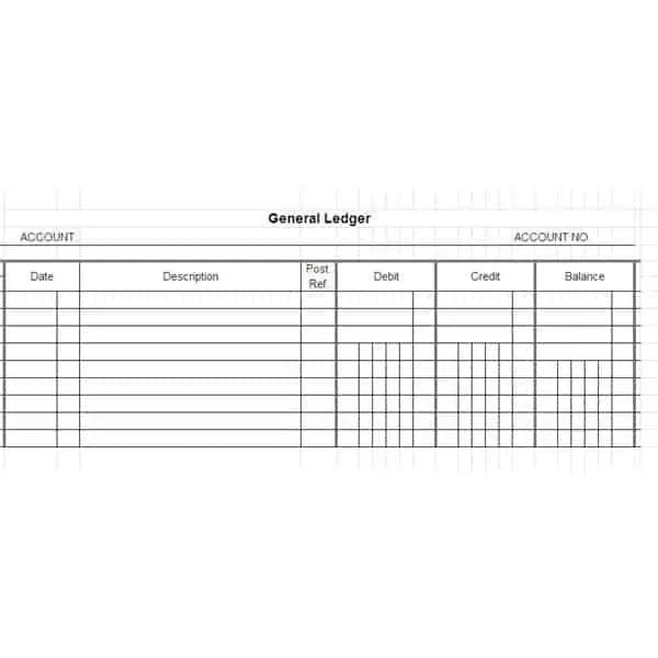 account ledgers template