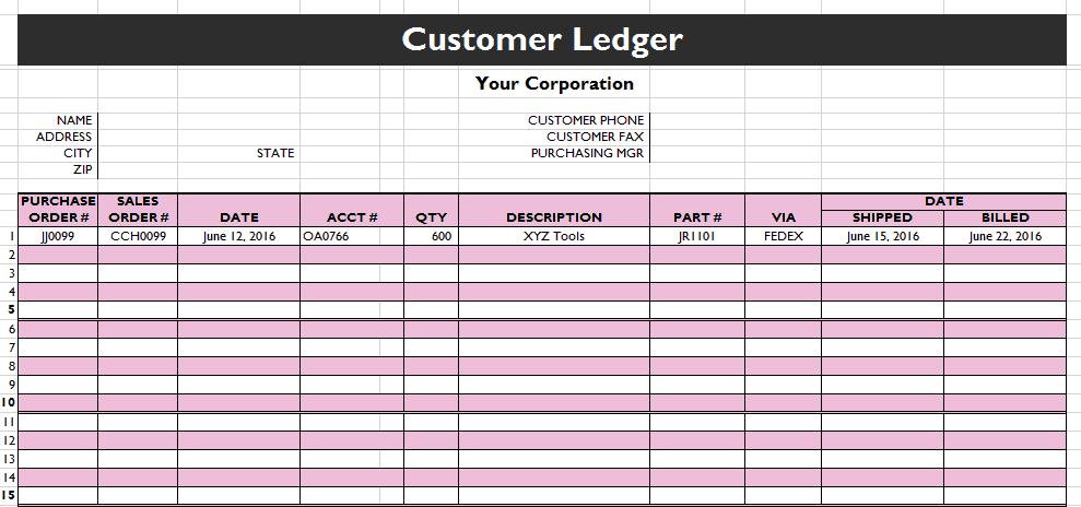 ledger samples