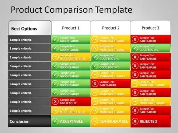 Comparison Grid Template 8 Product Comparison Templates Excel  Excel Templates