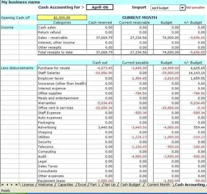 bookkeeping spreadsheet - Jcmanagement.co