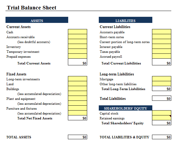 9+ Balance Sheet Formats In Excel