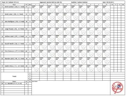baseball score sheet temlate 745410