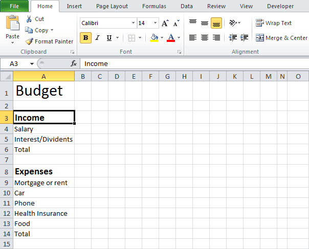 9+ Excel Budget Worksheet Template - Excel Templates