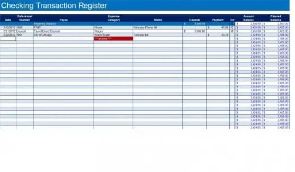 9  excel checkbook register templates