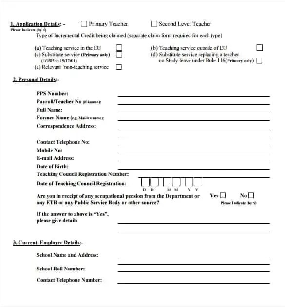 8+ Credit Application Templates Excel - Excel Templates