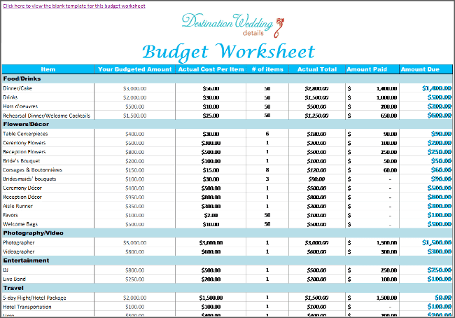 daily budget spread sheet template 666
