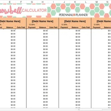 Debt Snowball Calculator Template Archives Excel Templates