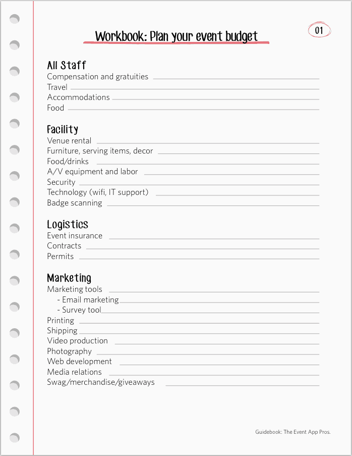 Event Planning Budget Templates Excel