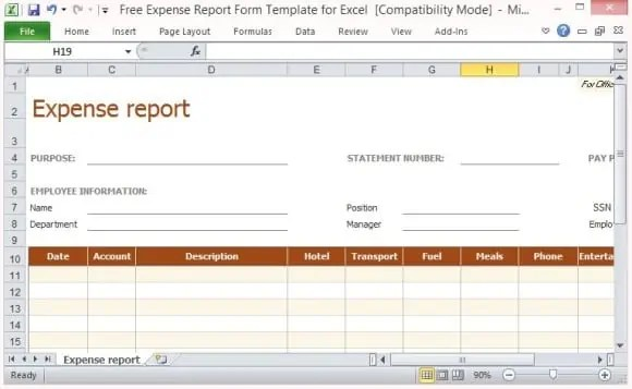 7 Expense Claim Form Templates Excel Templates – Expense Claim Template