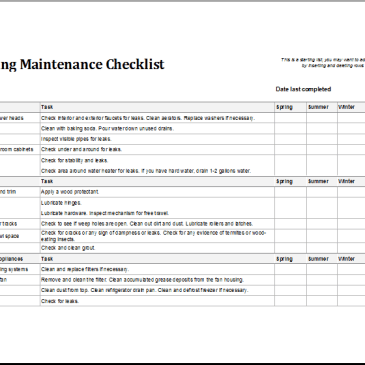 Excel templates free excel spreadsheets formats xlsx 7 facility maintenance checklist templates pronofoot35fo Gallery