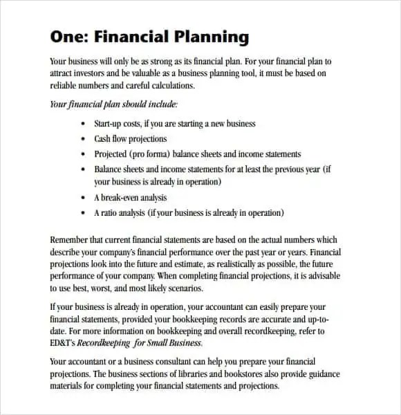 Financial Plan Templates Excel  Excel Templates