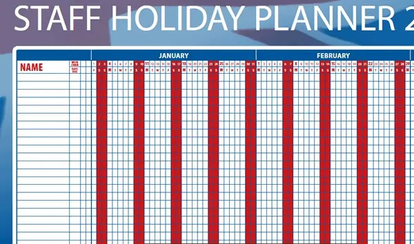 Excel Calendar Holiday Planner : Holiday planner templates excel