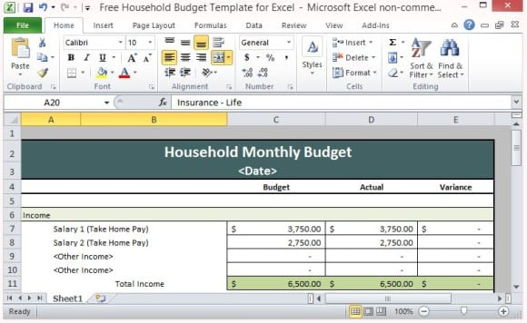 8+ House Hold Budget Spreadsheet Templates - Excel Templates