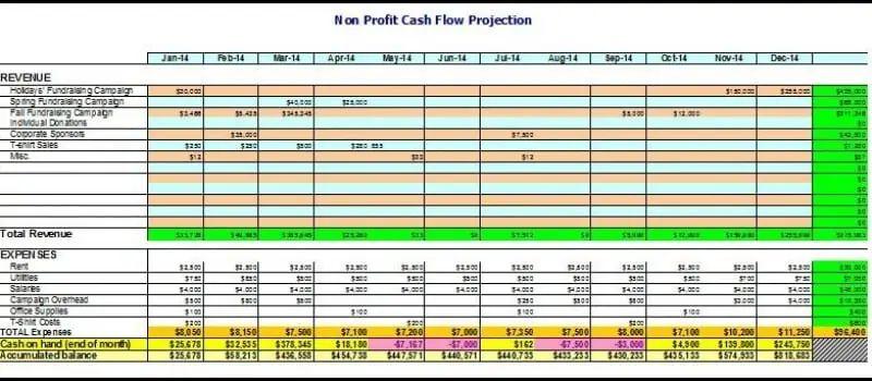 nonprofit budget worksheet