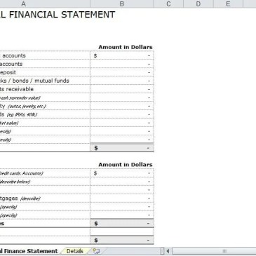 blank simple personal financial statement. Black Bedroom Furniture Sets. Home Design Ideas