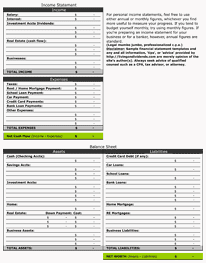 8+ Personal Financial Statement Templates - Excel Templates