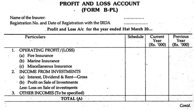 7  profit and loss account formats in excel