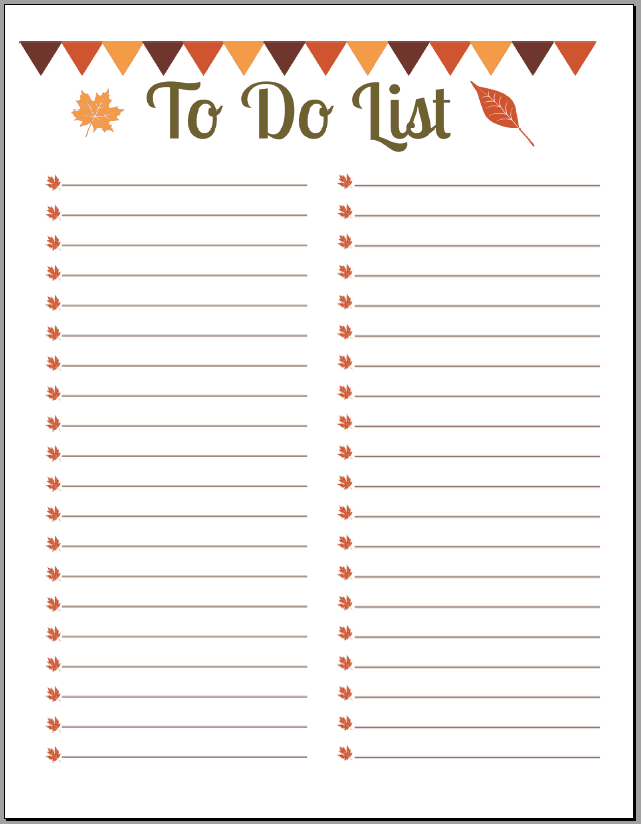 Things To Do List Template Archives - Excel Templates