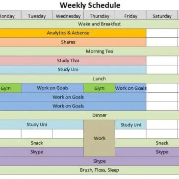 Weekly Calendar Template Archives Excel Templates
