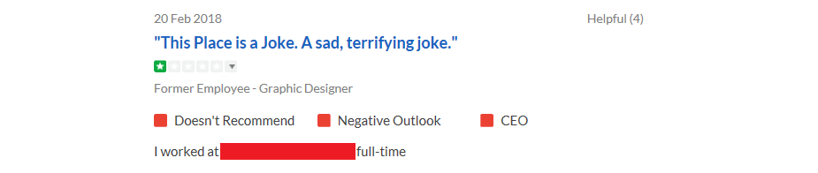 Worst Glassdoor Reviews