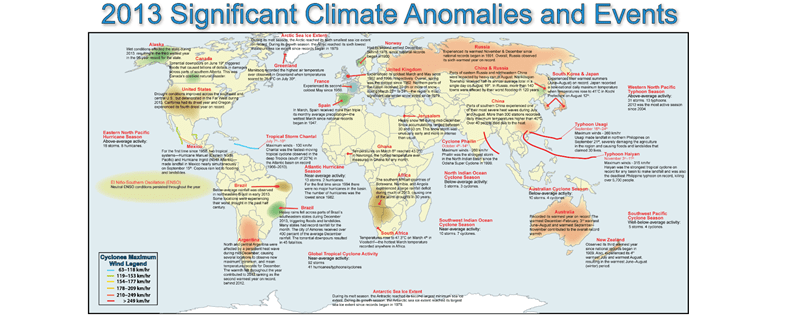 2013 significant climate anomalies and events