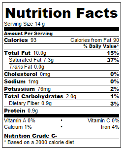 nutrition info almond butter coconut fat bomb