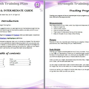 Diet & Beginner/ Intermediate Strength Training Plan Bundle (e-book)