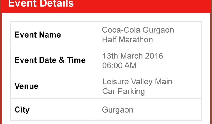 Gurgaon R&L Half Marathon