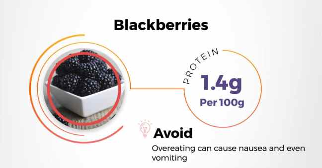 best indian protein rich diet - blackberries