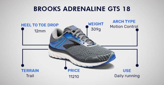 brooks adrenaline gts 18 running shoes for men