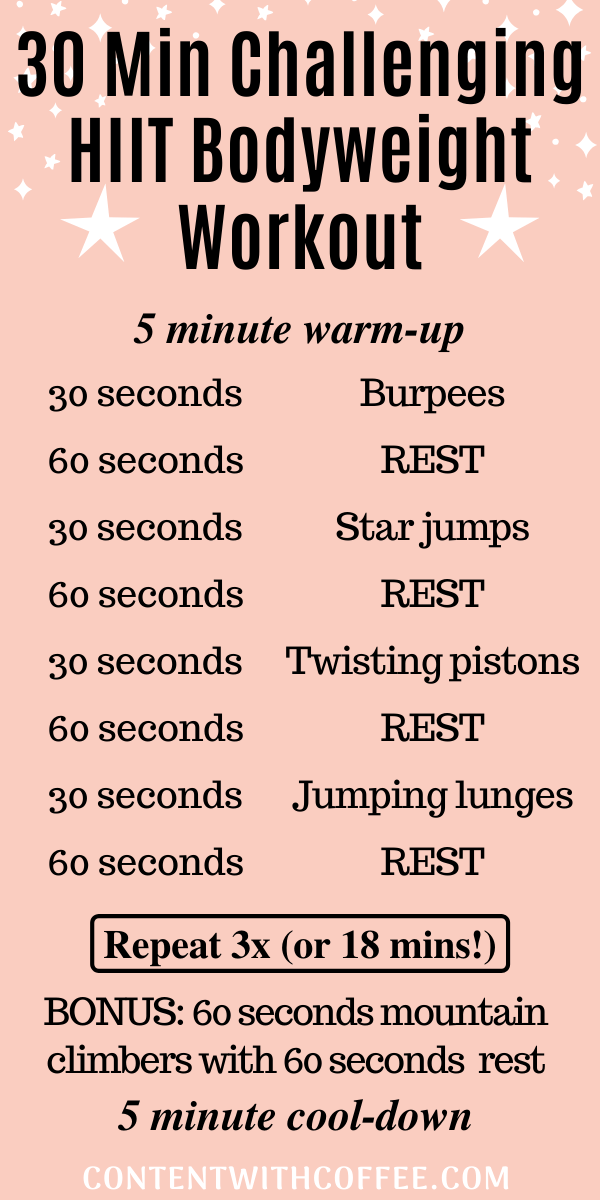30 Minute HIIT Bodyweight Workout
