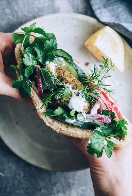 Falafel Pita Healthy Dinner Recipe