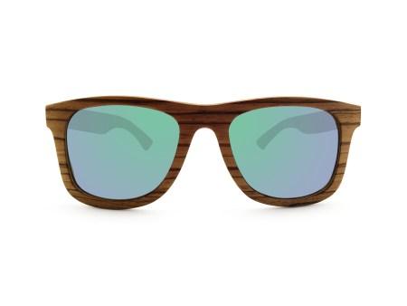 Foto van voorkant van houten zonnebril Rinjani van merk foxwood