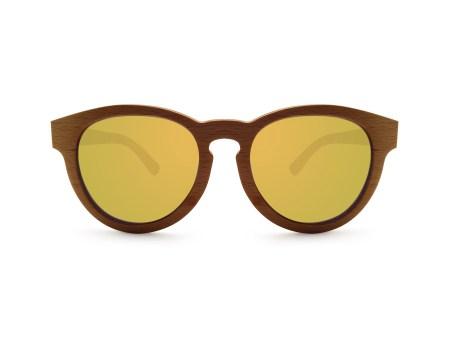 Foto van voorkant van houten zonnebril Surfer van merk foxwood